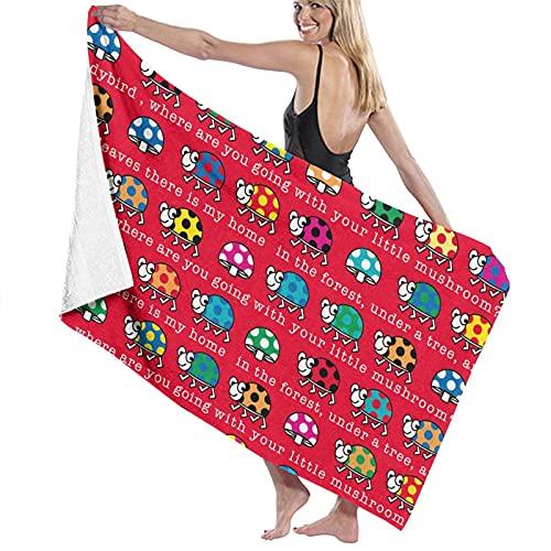Funny Ladybug - Toalla de baño con capucha, 80 x 130 cm