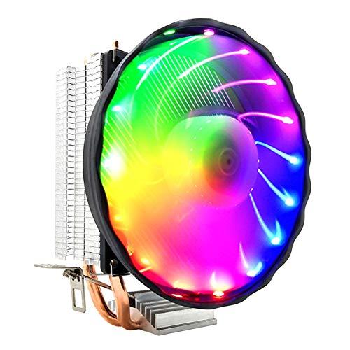 JVSISM Ventilador de RefrigeracióN de Tubo Calor Dual de 3 Pines, Ventilador de Radiador de CPU de Computadora de Escritorio, Ventilador de CPU de RefrigeracióN de MúLtiples Plataformas