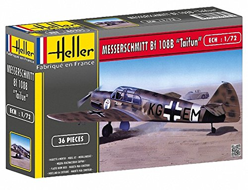Heller 80231 - Modellino da Costruire, Aereo Militare Messerschmitt, Scala 1:72 [Importato da Francia]