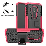 Moto G7 Play Case,LiuShan [Shockproof] Heavy Duty Combo