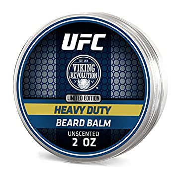 UFC Heavy Duty Beard Balm Conditioner for Extra Control - Unscented - Styles Strengthens & Softens Beards & Mustaches - Leave in Conditioner Wax for Men