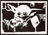 Poster Baby Yoda El Mandaloriano STAR WARS Grafiti Hecho a Mano - Handmade Street Art - Artwork The ...