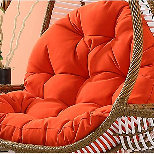Yuany Hanging Swing Chair Terras Tuinstoel Kussen/verwijderbare Was Swing Basket Kussen, zacht, comfortabel en veilig, 86x120cm(33 Inches x 47 Inches) (Kleur: Bruin)