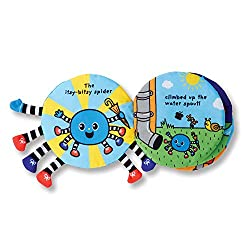 Image of the book Itsy-Bitsy Spider Soft Activity Book by Melissa and Doug with link to purchase through Amazon