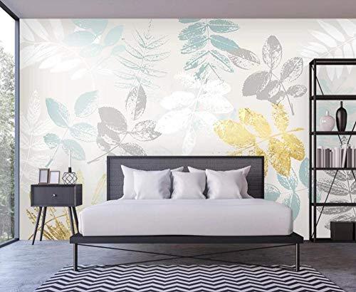 Wallpaper-CJW. Carta da parati fotografica Carta da parati 3D murale piante Tropicali dipinte a Mano sfondo Moderno Muro soggiorno decorazione Camera da letto pittura-448 * 288 cm