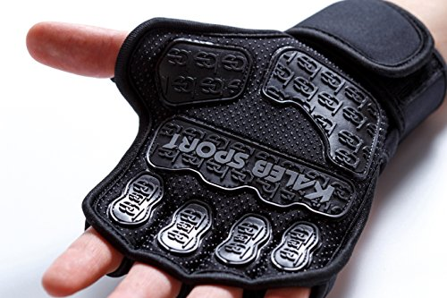 Weight Lifting Gloves - Men - Women - Cross Training Pull Up Workout - CrossFit Weightlifting WOD - Grip Guantes Para Gym Bodybuilding Calisthenics Pullup Bar - Kettlebell Deadlift Wrist Support Wraps
