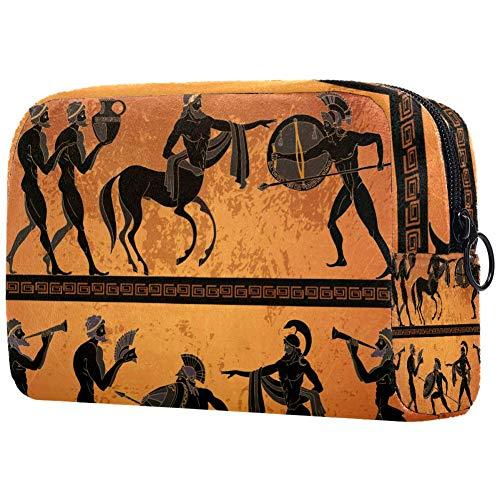 Bolsa de maquillaje personalizada para brochas de maquillaje, bolsas de aseo portátiles para mujeres, bolso cosmético, organizador de viaje, cuerpo humano, cola de caballo