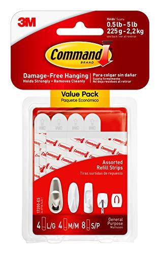 3M 17200-ES Command - Tiras adhesivas para uso general, color blanco, talla única