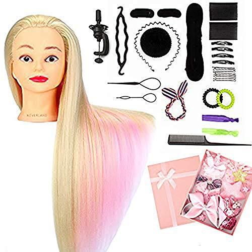 "Neverland Beauty 24\"" Übungskopf Frisierkopf Friseur 100{90a23de09aaaba7ebfc6a54e66a34c9bbd868b9e290ba06962fcf11248e12400} Synthetisches Haar Perückenkopf Puppenkopf Trainingsköpfe Friseurkopf Ausbildung Kopf Mit Halter + DIY Haar Zubehör styling Set"