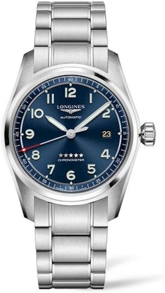 Longines, spirit automatico 40 mm blu orologio movimento meccanico a carica automatica in acciaio L38104936