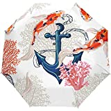 Ocean Sea Anchor Fish Auto Open Umbrella Sun Rain Umbrella Anti UV Folding Compact Automatic Paraguas