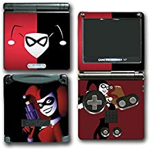 Harley Quinn Batman Animated Joker Girl Bat Man Mad Love Video Game Vinyl Decal Skin Sticker Cover for Nintendo GBA SP Gameboy Advance System