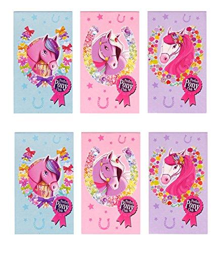 12x Notizblock Pferd | Mitgebsel | Pferdeparty | Ponyparty | rosa | türkis | lila