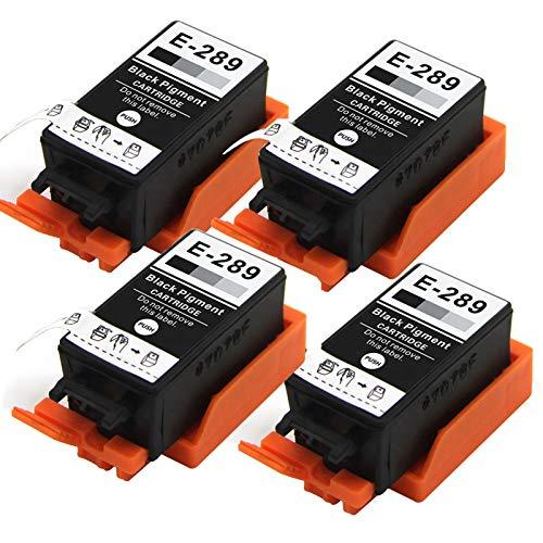 Cartucho de repuesto para impresora Epson T289 T290 WF-100 de inyección de tinta negra cartucho de tinta negro 4