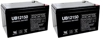 Universal Power Group 12V 15AH F2 Replacement Battery for Boreem Jia 601-S - 2 Pack