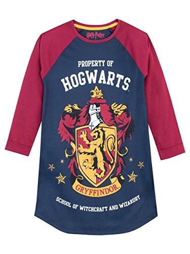 Harry Potter Mädchen Gryffindor Nachthemden Mehrfarbig - 146 (Herstellergröße: 10 - 11 Jahre)