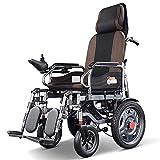 MYJHUIY Silla de ruedas eléctrica plegable,silla de ruedas ligera, Joystick de 360 °, capacidad de peso 120 kg