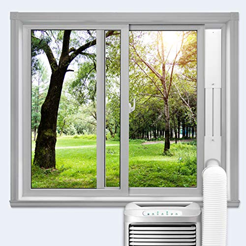 habibee Portable Air Conditioner Window Vent Kit, Kit Plate for Portable Air Conditioner, Adjustable Length Portable AC Vent Kit for Exhuast Hose of 13cm/5.1 Inch