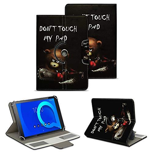 NAUC Alcatel 1T 10 Tablet Tasche Hülle Schutzhülle Hülle Schutz Cover 10.1 Cover 360° Drehbar, Farbe:Motive 7