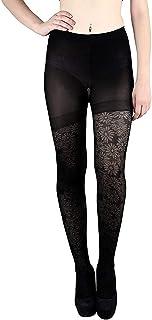 Golden Girl Women's Nylon Spandex High Waist Stocking (Black, Free Size)
