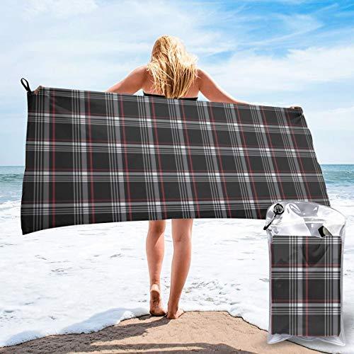 Mikrofaser-Handtuch, leichtes Reise- und Strandtuch, extra groß, schnell trocknend, Camping-Handtuch, Premium-Gym-Handtücher für Schwimmen, Yoga, sehr saugfähig, schnell trocknend, Golf Gti Plaid