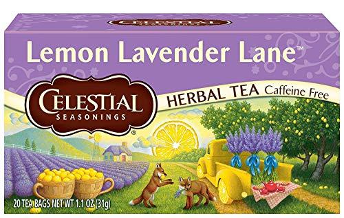 Celestial Seasonings Herbal Tea, Lemon Lavender Lane, 20 Count (Pack of 6)