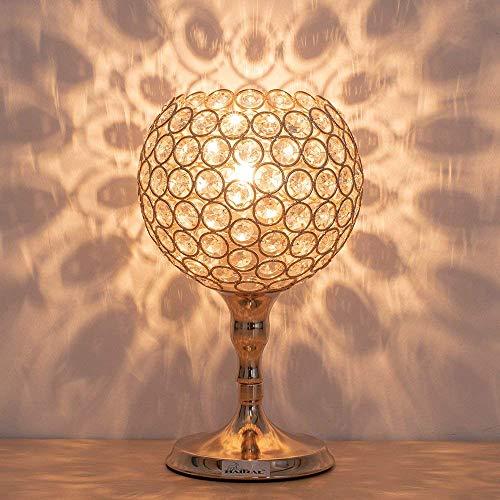 Gymqian Mini Tablamp, Lámparas de Cristal, Luz de la Noche Moderna con el Marco Del Metal para el Dormitorio, Color Oro Lámparas de Metal para la Noche de la Tabla jhnfghfdgvsdfcsdv