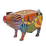Estatua de resina animal de cerdo de la terraza de la estatua de la resina del cerdo esculturas artesanías esculturas para el jardín patio paisaje