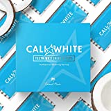 Cali White Teeth Whitening Strip - Vegan White Strips for Sensitive Smiles - Coconut Oil Flavored Whitening Strips - 6% Hydrogen Peroxide Teeth Whitener Strips