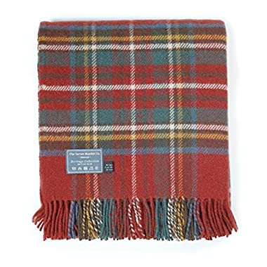 The Tartan Blanket Co. New Wool Knee Blanket Stewart Royal Antique Tartan (30  x 70 )