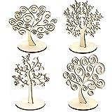RUBY- Baum des Lebens Ohrring-Anzeige, Balsaholz-Baum, künstlicher Baum mit Stamm-Hauptdekoration (Lote 4 Árboles, klein)