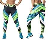 Zumba Fitness® Weit Jacquard Bund Kompression Sexy Sport Workout Leggings Damen, Conseguir En Lima, L para Mujer