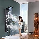 HUASHASHA Pantalla Hydro Digital con Placa de Ducha, Columna LED de Lluvia Cascada...
