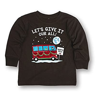 Pete the Cat Give It Your All! Toddler Long Sleeve Tee-5T Black