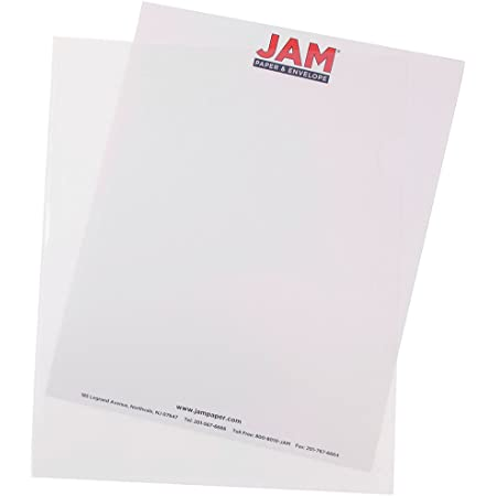 """JAM Paper Plastic Sleeves - 9"""" x 11 1/2"""" - Clear - 12/pack"""