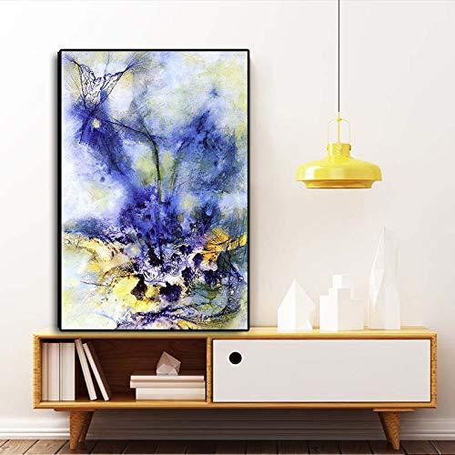 Landschaft abstrakt Ölgemälde auf Leinwand Kunst Poster und Drucke Wandkunst Bild Wohnzimmer Dekoration kein Rahmen
