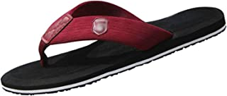 Unisex Adult Flip Flops Running Slippers Non Slip Slippers Outdoor Beach Bath Sandals (Color : Red, Size : 36EU)