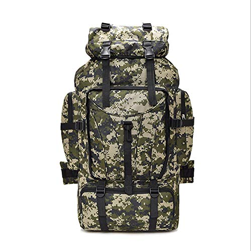 NWJHB Camouflage Mountaineering Bag Backpack 70L Large Capacity Outdoor Travel Backpack Camping Luggage Rucksack-desert