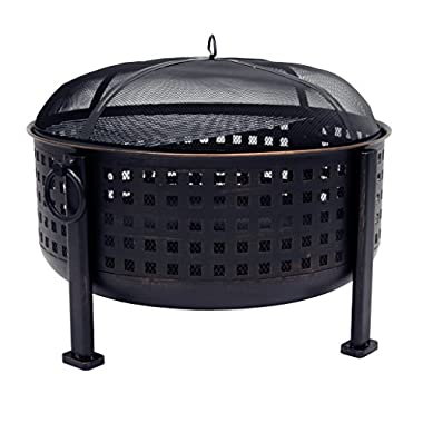 Pleasant Hearth OFW821RC Langston 12  Deep Bowl Fire Pit