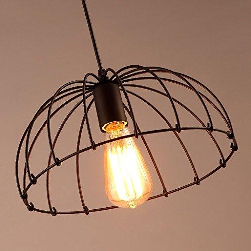 PLLP Lámpara Iluminación de techo Candelabro de hierro Retro Restaurante Cafetería Bar Estudio simple Dormitorio Pasillo Candelabro,Negro
