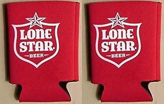 Lone Star Beer Can Kaddy Coolie Huggie Cooler Set of 2