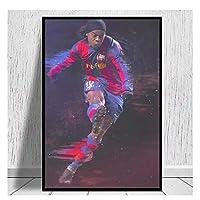 Suuyar Ronaldinhoキャンバスプリントポスター家の装飾壁の写真リビングルームのキャンバス絵画キャンバスにプリント-50X70Cmフレームなし
