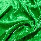 TOLKO 1m Pannesamt als Meterware Edel glänzender Stretch Samt-Stoff zum Nähen Dekorieren | 145cm breit Kleidungsstoff Dekostoff Modestoff Polyesterstoff für Vorhänge Gardinen Bühne (Smaragd-Grün)