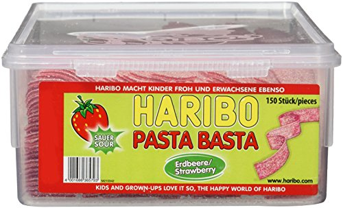 Haribo Pasta Basta Erdbeere Sour,4er Pack (4x 1.125 kg)