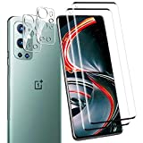 [2 + 2 Pack] Screen Protector + Camera Lens Protector for Oneplus 9 Pro,YRMJK [Anti-Fingerprint][No-Bubble][Scratch-Resistant] 5D Curved Tempered Glass