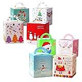 Kungfu Mall 16pcs cajas de dulces de navidad caja de regalo caja de regalo de papel dulce de caramelo para boda fiesta de festival de navidad