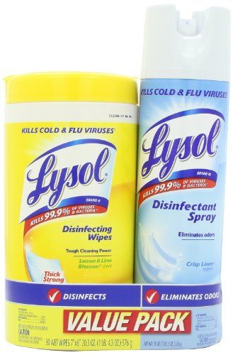 Lysol Base 80ct Household Cleaning Wipes, Crisp Linen, 19 Ounce