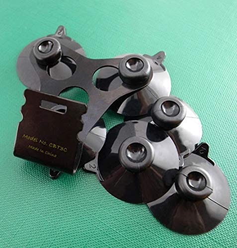 CBT3CBLK Windshield Mount Bracket with 6 Black Suction Cups for The Most Cobra Radar Detectors product image