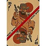 LWJPD Cuadro sobre Lienzo 50x70cm Sin Marco Quentin Movie Django Unchained Poster Canvas Prints Home Design Baño Casa Oficina