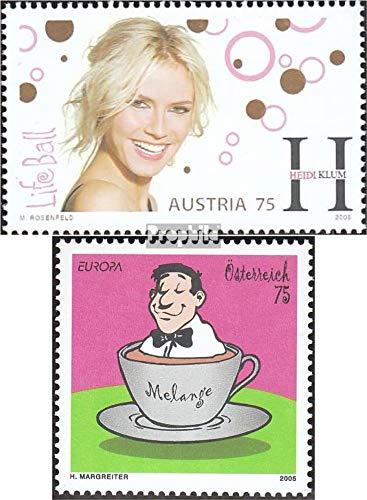 Prophila Collection Austria 2531,2533 (Completa.edición.) 2005 Heidi Klum, Viena Melange (Sellos para los coleccionistas) historietas